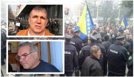 Uhapšeni čelnici Sindikata solidarnosti TK Sakib Kopić i Enes Tanović